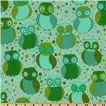 Della Flannel Little Owls Grass
