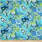 0274707 Fresh Ikat Green/Blue