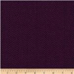 0281112 Designer Brushed Herringbone Suiting Ultraviolet