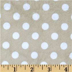 Minky Minnie Dots Tan/White