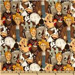 FR-029 Funny Farm Farmer & Family Brown
