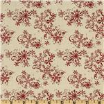 All Around The Town Snowflake Swirl Ivory/Red