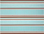 231869 Sew Cherry Border Stripe Blue