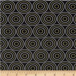 Mellow Yellow Medium Circles Black