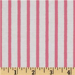 Michael Miller Out To Sea Pirate Stripe Blossom Pink