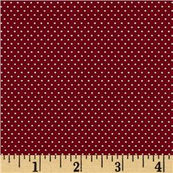 Pin Dot Claret Red