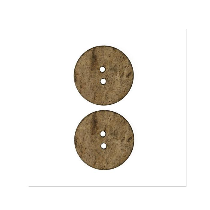 Organic Elements Wood Button 1'' Natural