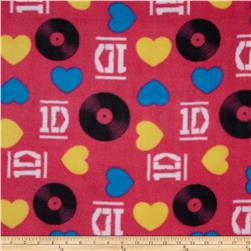One Direction Fleece Hearts Vinyls Pink