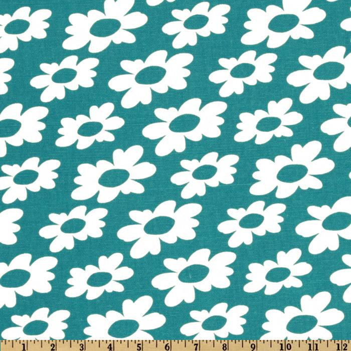 Premier Prints Wildflowers True Turquoise