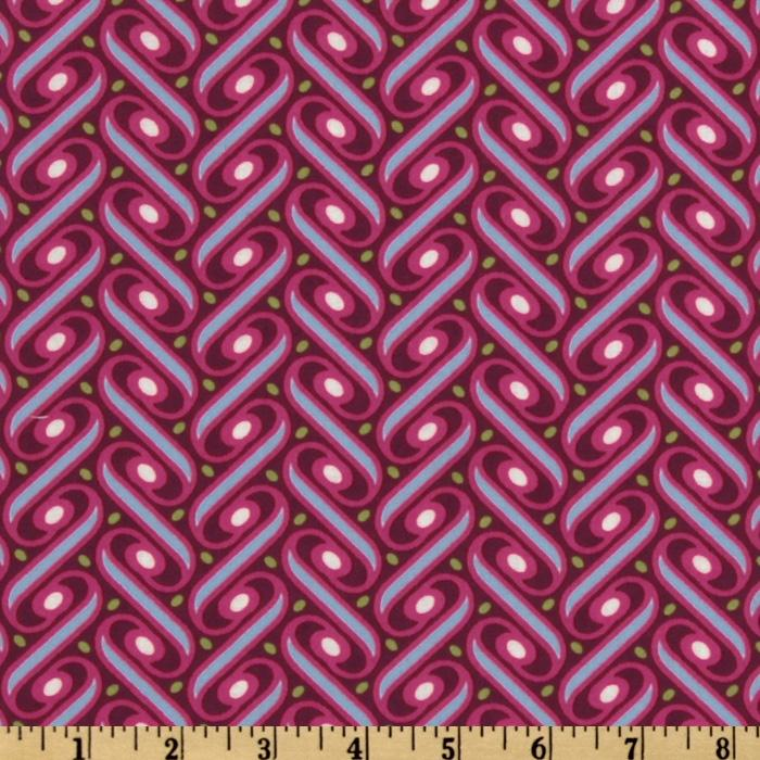 Joel Dewberry Heirloom Ribbon Lattice Fuchsia