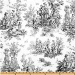 UR-803 Premier Prints Colonial Toile Black/Ivory
