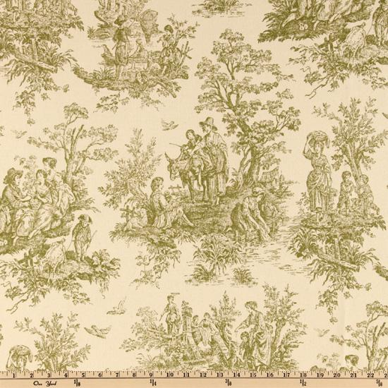 Premier Prints Colonial Toile Sage/Natural