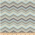 Riley Blake One For The Boys Chevron Blue