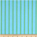 Bright Owl Dot Stripe Blue