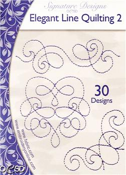 OESD Machine Embroidery CD Elegant Line Quilting