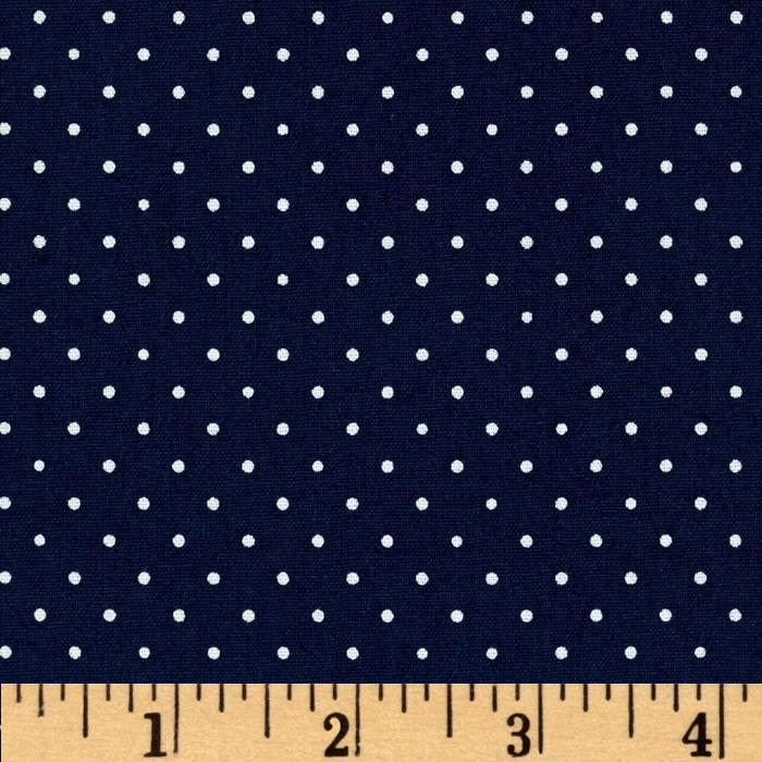 Brights & Basics Pindot Navy