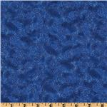 Cuddle Flannel Swirls Delft Blue
