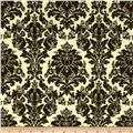 Chenonceau Flannel Damask Brown