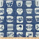 0264694 Alexander Henry Indochine Genmai Tea Cup Indigo