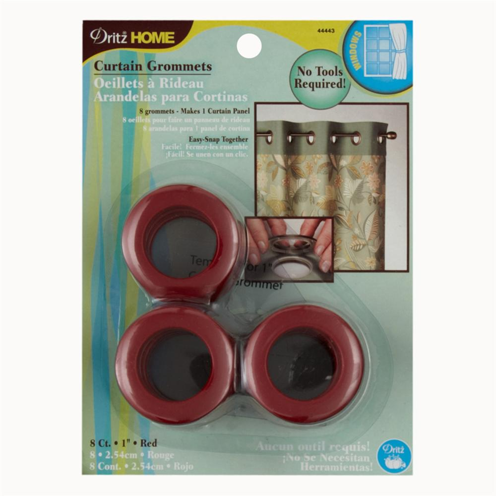 "Curtain Grommets 1""  Red"
