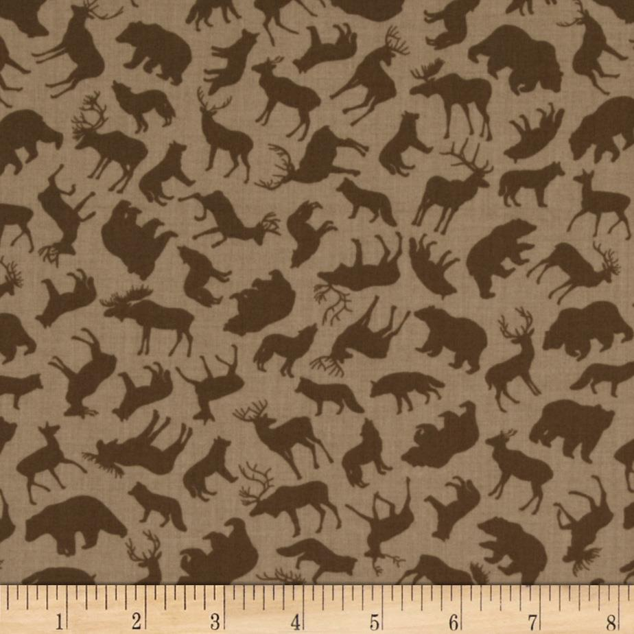 North by Northwest Forest Animals Taupe