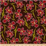 215589 Oreganata Floral Brown