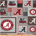 Collegiate Fleece University of Alabama Plaid Blocks