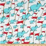 0273408 Oh The Places You&#39;ll Go! Celebration Elephants White/Blue
