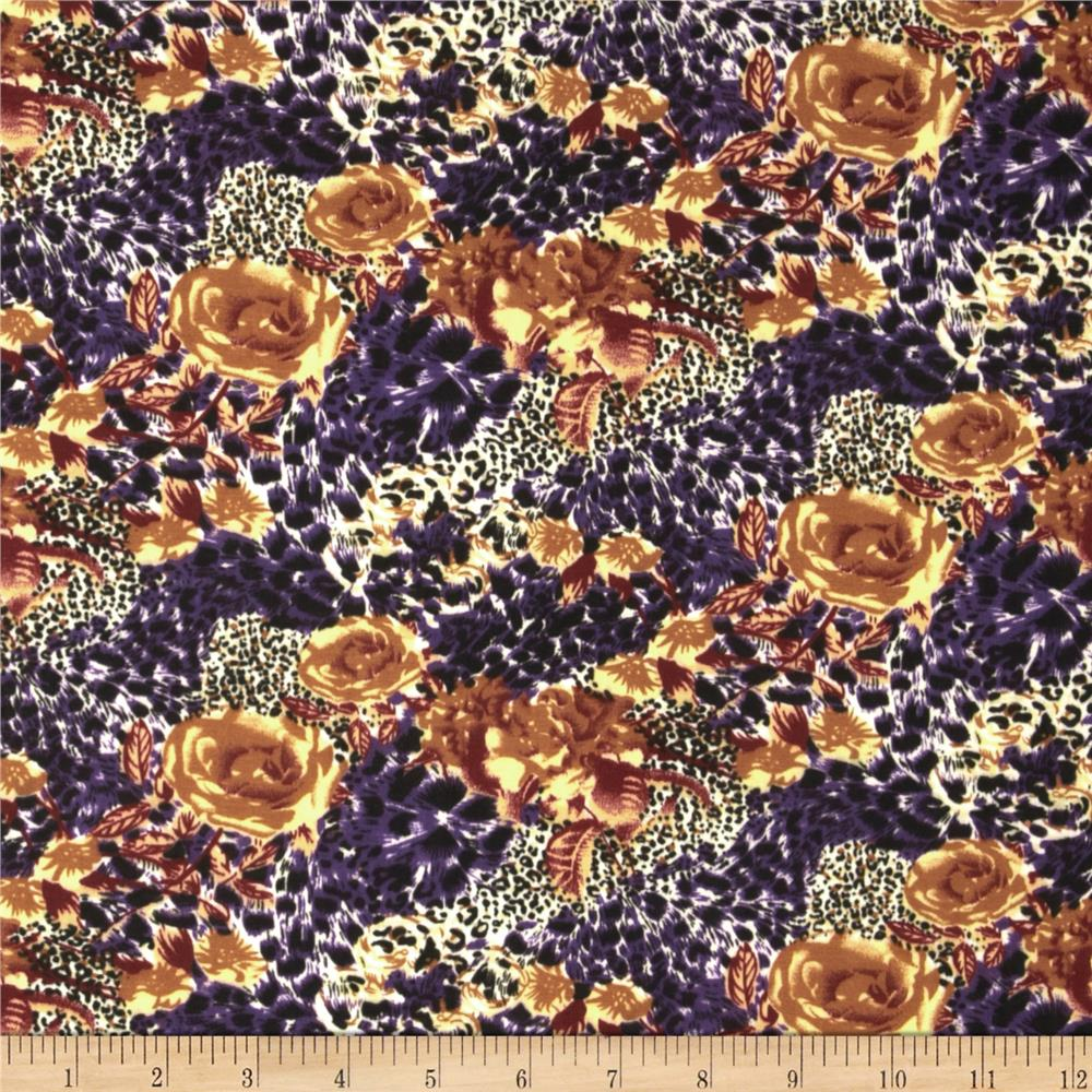 Jungle Safari Broadcloth Cheetah Rose Purple