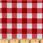 0267964 Brights & Pastels Basics Large Plaid Red