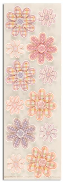 Martha Stewart Crafts Stickers Applique Flower Pink/Lavender