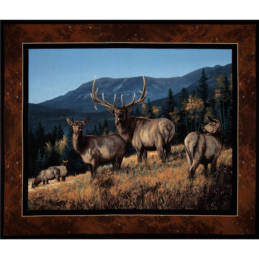 Lookout Peak Wallhanging Panel Blue/Brown