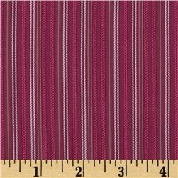 Jacquard Shirting Stripes Raspberry
