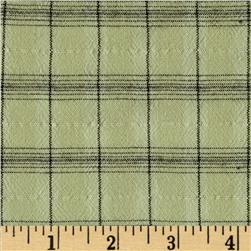 Designer Rayon Blend Textured Shirting Plaid Sage