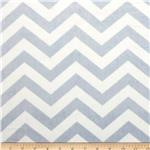 "Minky Cuddle 3/4"" Chevron Blue/White"