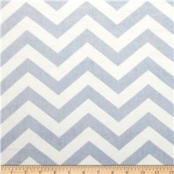 "Minky 3/4"" Chevron Blue/White"