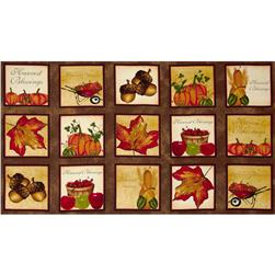 Harvest Blessings Squares Brown/Multi