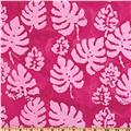 Indian Batik Corfu Leaf Pink