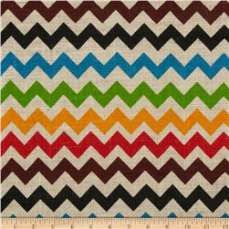 Printed Burlap Mini Chevron Multi