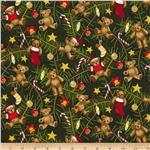 0286524 Season's Greetings 2013 Teddy Bears In Tree Green