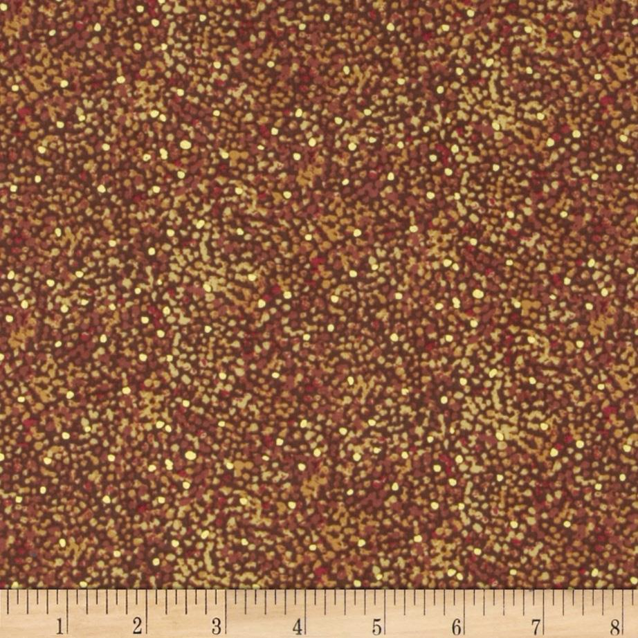 Quilting Treasures Autumn Spendor Metallic Speckle Blender Brown
