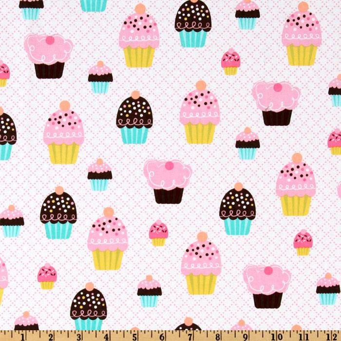 Michael Miller Cupcake Party Pink