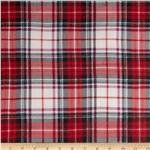 0281139 Crinkle Chiffon Plaid Red