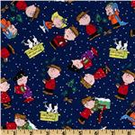 Christmas Time Peanuts Celebration Navy
