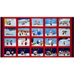 FI-444 Christmas Time Peanuts Panel Red/Blue