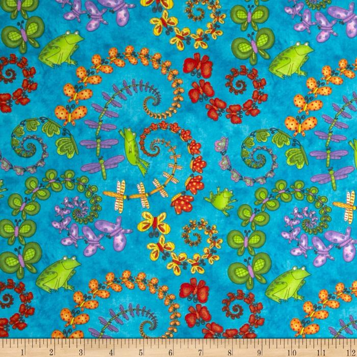 Froggy Fun Butterfly Swirl Blue