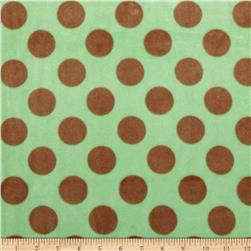 Minky Polka Dot Green/Brown
