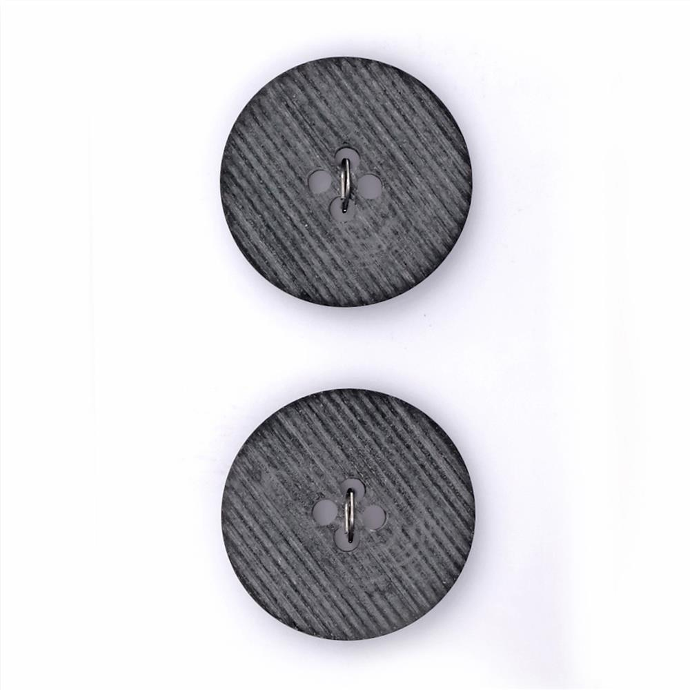 "Fashion Button 7/8"" Turku Grey"
