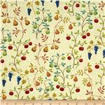 0278738 Fresh Off The Vine Fruit Allover Ivory