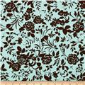 Pimatex Basics Floral Aqua/Brown